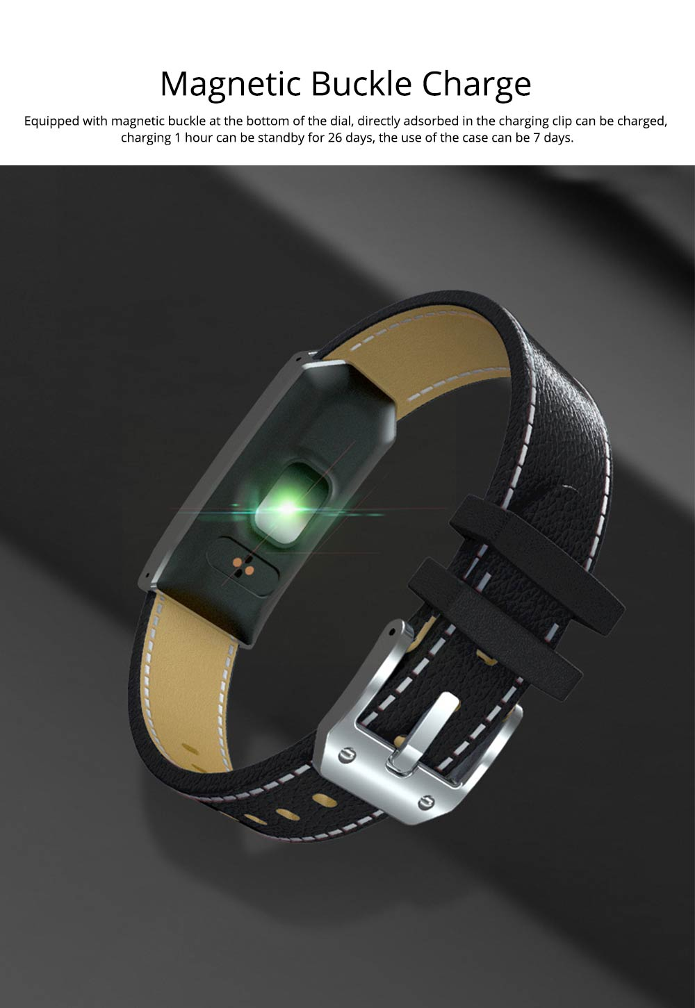 Smart Bracelet with GPS Positioning for Continuous Heart Rate Monitoring and Call Reminder 7