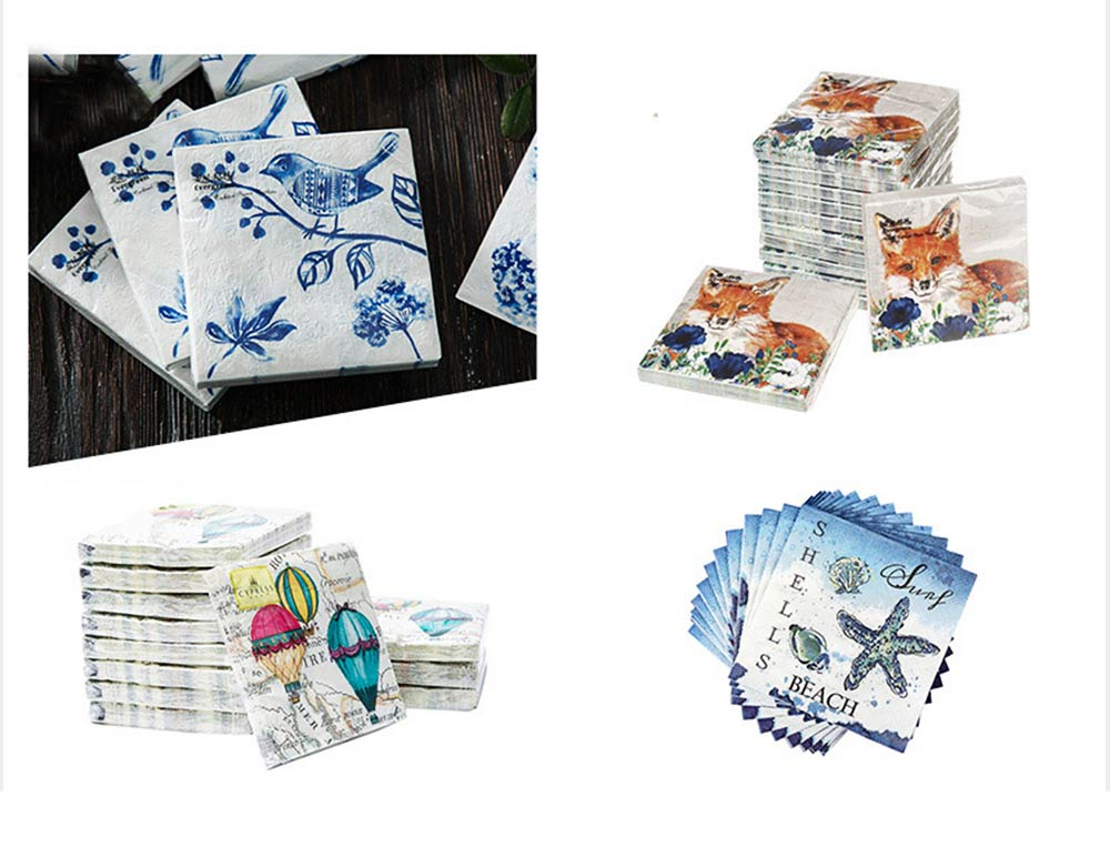 Tissue Environmental Printed Napkin for Wedding Dining Disposable Table Supplies Paper 3