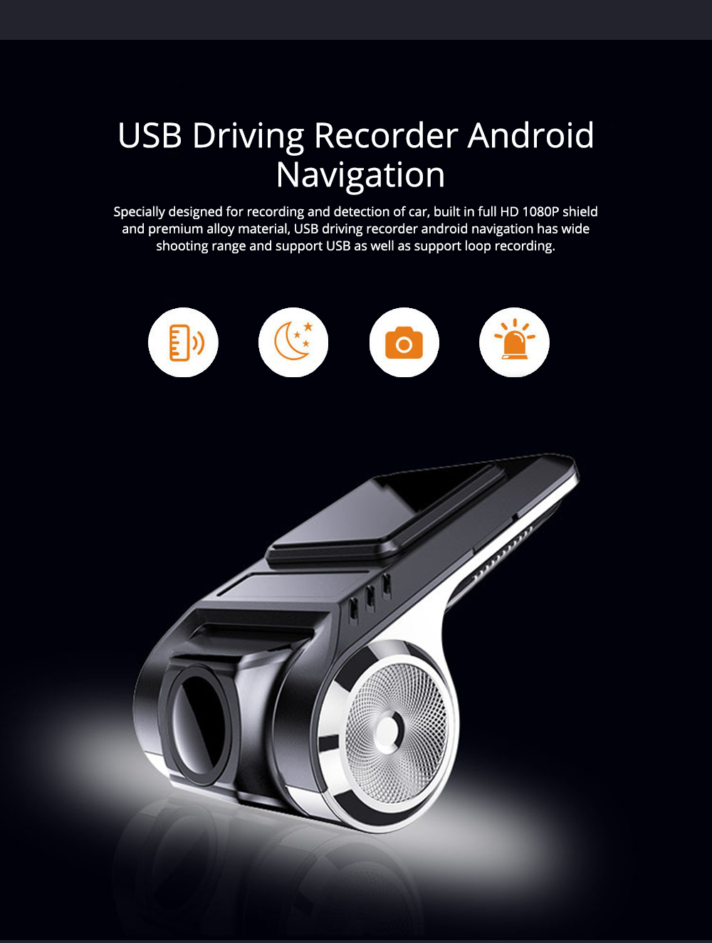 USB Driving Recorder Android Navigation with ADS Auxiliary Driving Speed Electronic Dog for Intelligent Anti-snoring 0