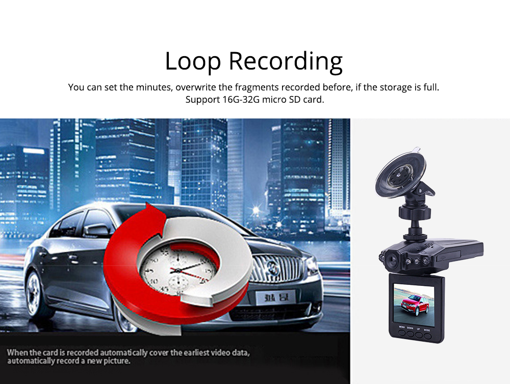 Aircraft Head Driving Recorder, Wide-angle Infrared Night Vision HD No Leakage Seconds as Mini Car Recorder 4
