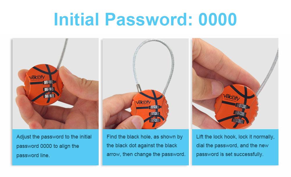 Metal Digital Password Lock, Customs Luggage Password Lock 5