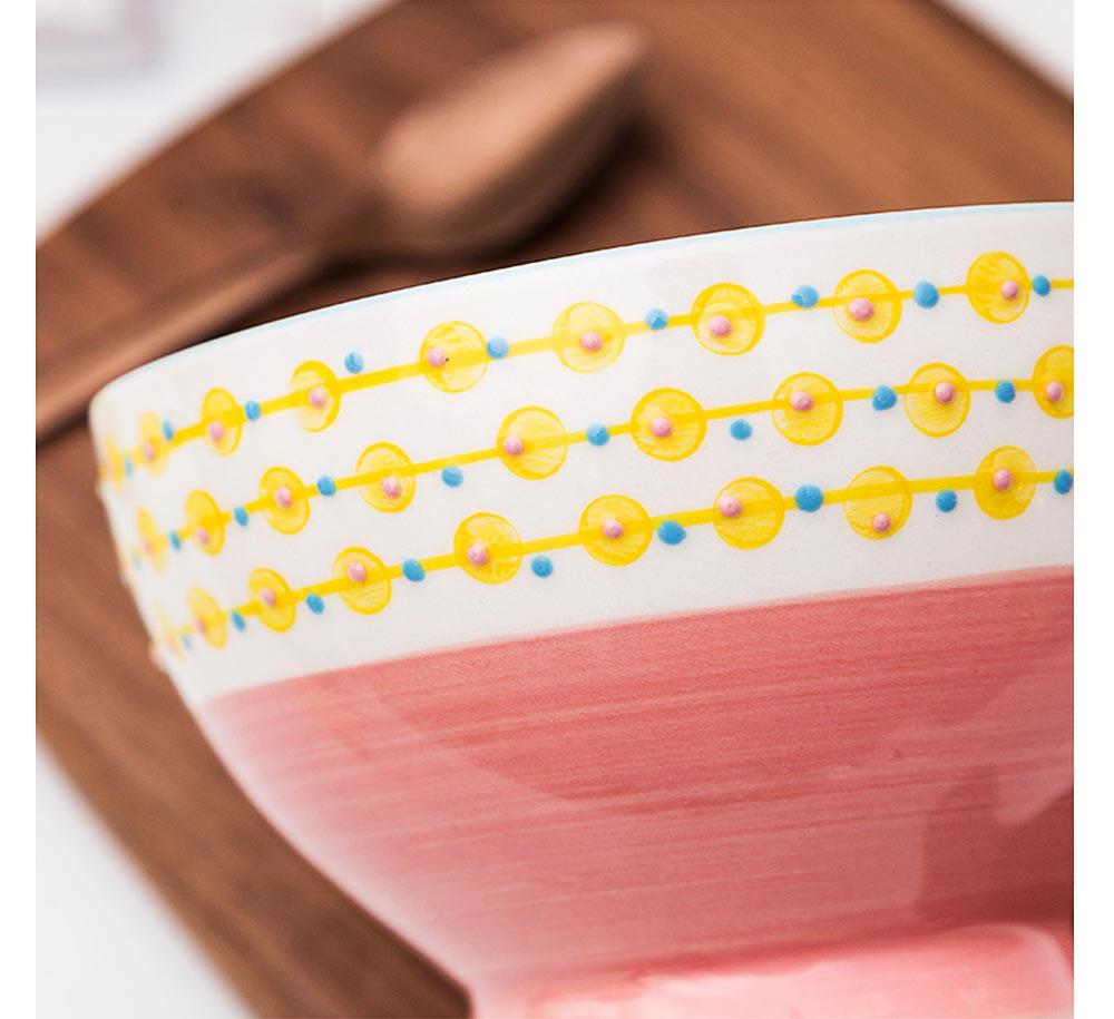 Ceramic Breakfast Mug, Large Capacity Porcelain cup for Water Juice Tea Food 16