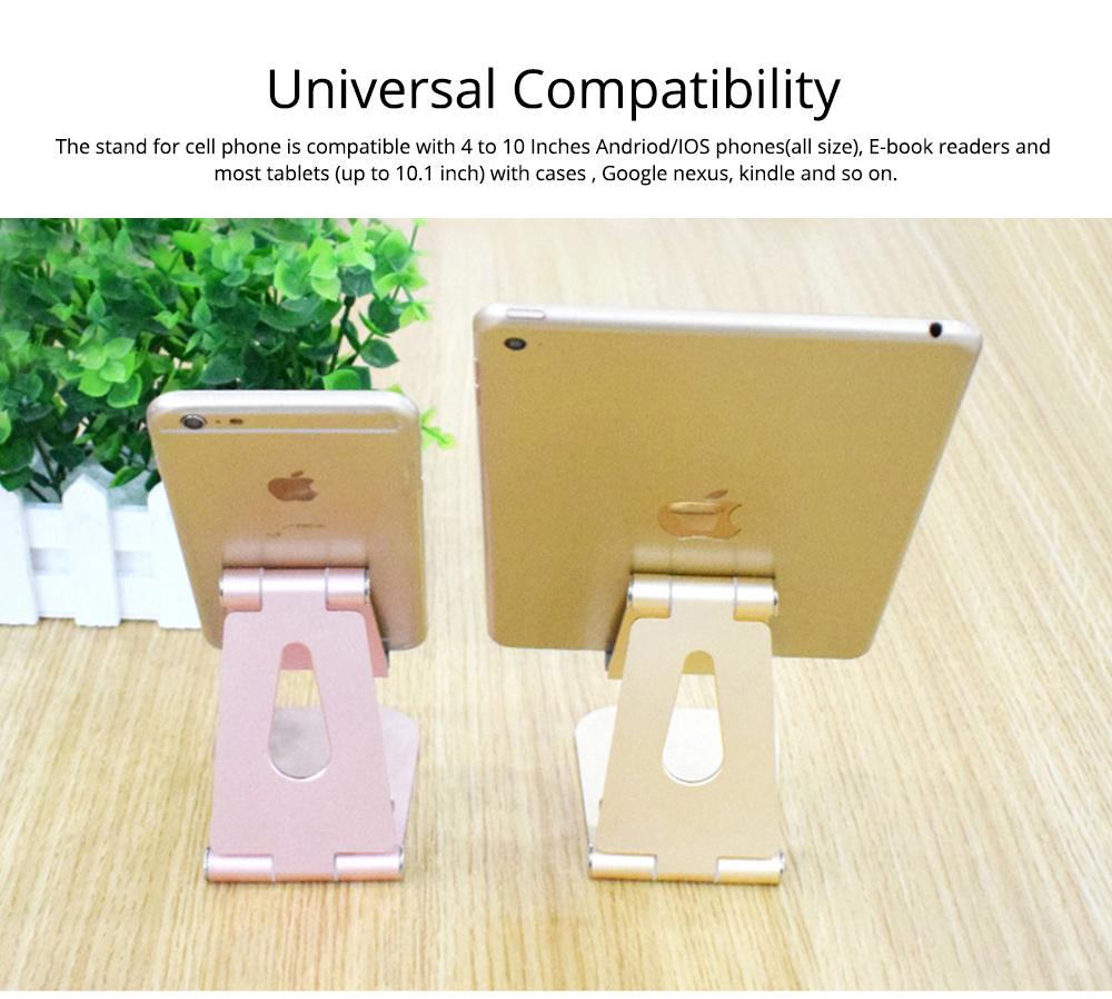 Aluminum Alloy Desktop Phone Holder, Portable Double Adjustable Folding Mobile Phone Tablet Bracket for Universal Compatibility 5