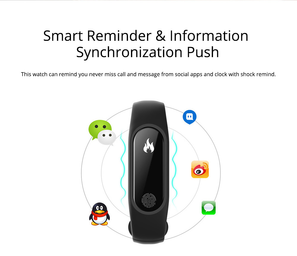 Waterproof Sports Bluetooth Smart Bracelet for Attendance Clock System, Call Reminder and Rate Monitoring 2