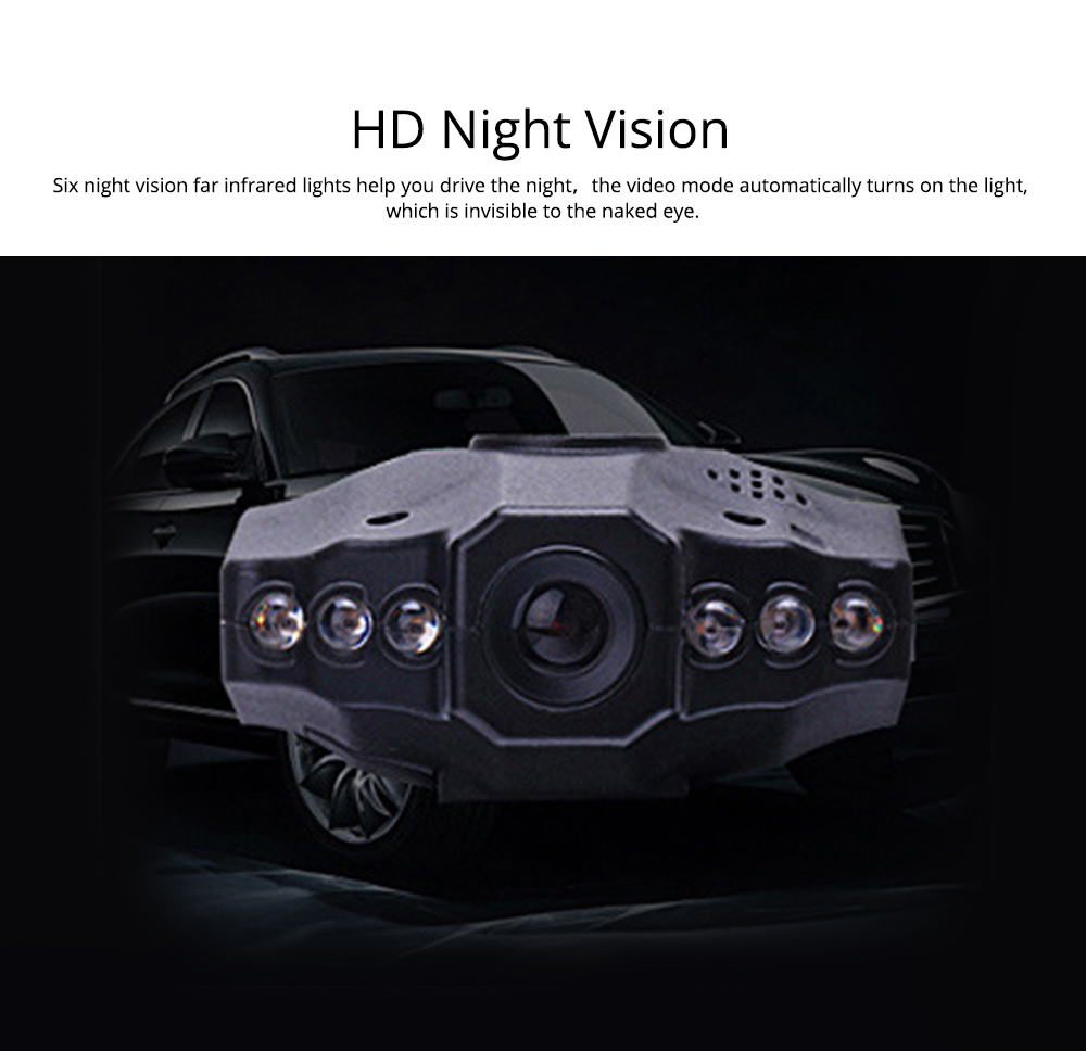 Aircraft Head Driving Recorder, Wide-angle Infrared Night Vision HD No Leakage Seconds as Mini Car Recorder 12