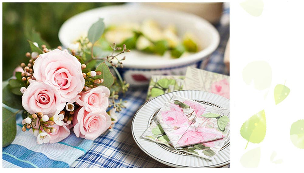 Tissue Environmental Printed Napkin for Wedding Dining Disposable Table Supplies Paper 7