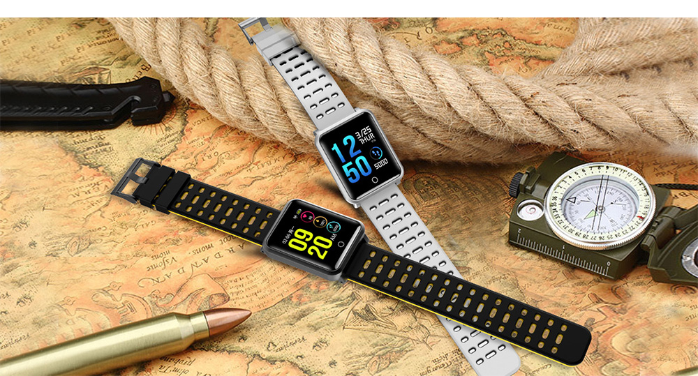 Smart Color Screen Watch for Heart Rate and Blood Pressure with IP68 Waterproof and Anti-loss Multi-movement Bracelet 9