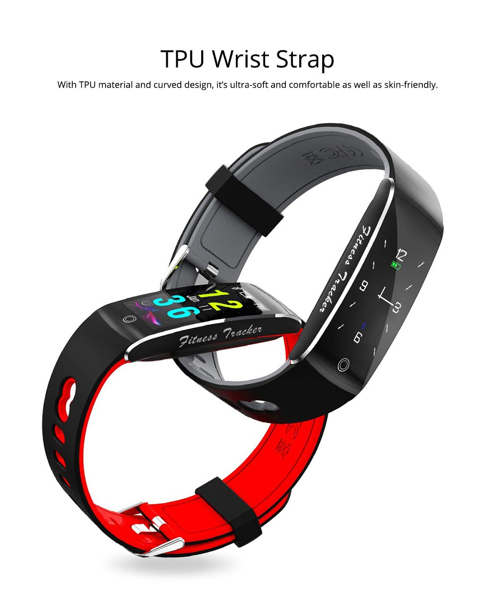 Waterproof Sports Bluetooth Smart Bracelet with Silicone Ultra-soft Watchband for Call Reminder and Rate Monitoring 6