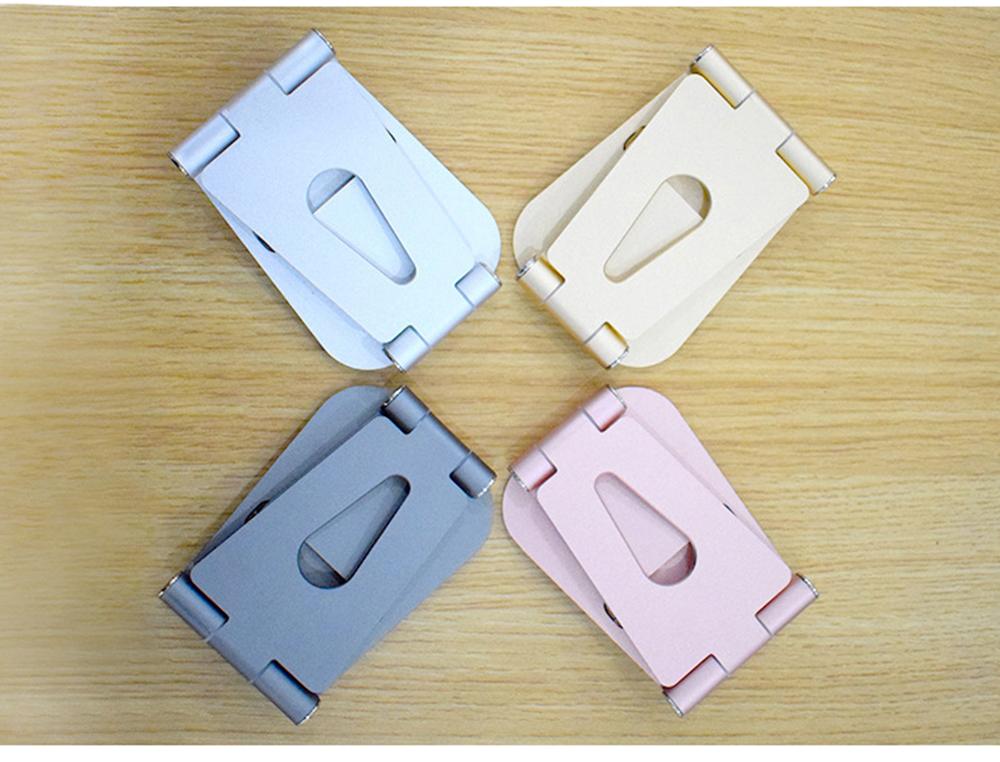 Aluminum Alloy Desktop Phone Holder, Portable Double Adjustable Folding Mobile Phone Tablet Bracket for Universal Compatibility 7