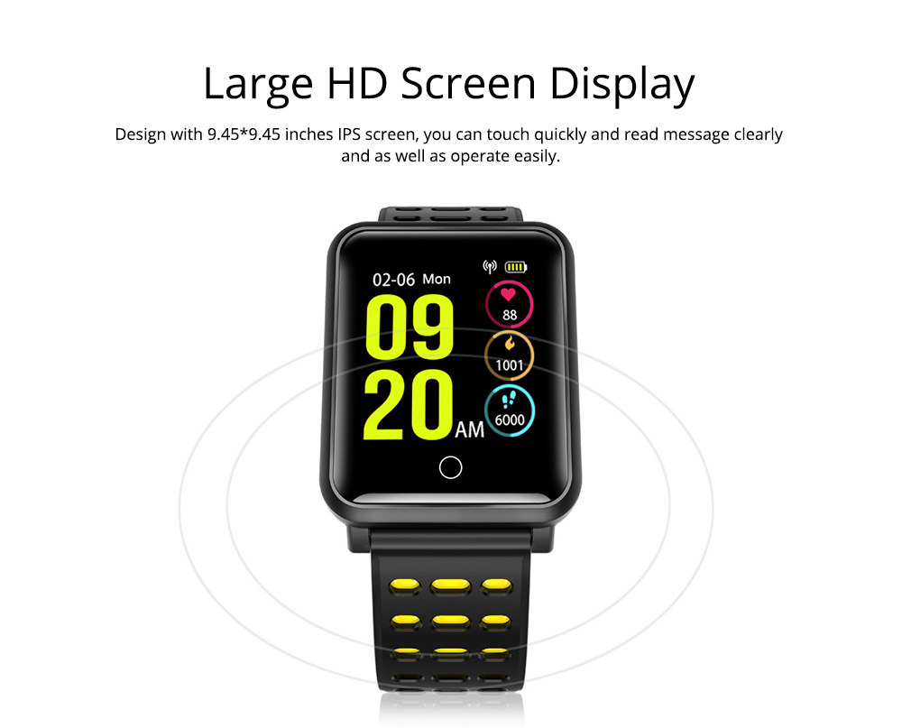 Smart Color Screen Watch for Heart Rate and Blood Pressure with IP68 Waterproof and Anti-loss Multi-movement Bracelet 3
