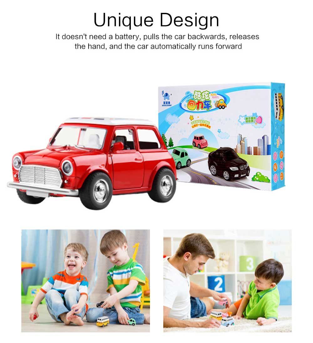 Children Toy Car Pull Back Car Set, Alloy Puzzle Car, Mobilization Q Version Mini Toy Car for Children 4
