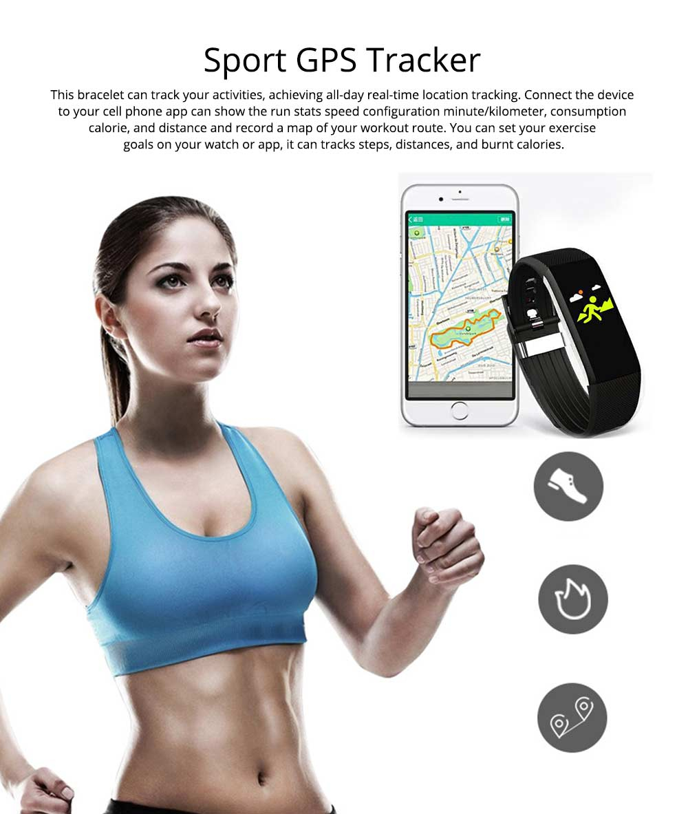 Waterproof Circle Color Screen Smart Bracelet with Multiple-sports Modes for Continuous Heart Rate Monitoring 5