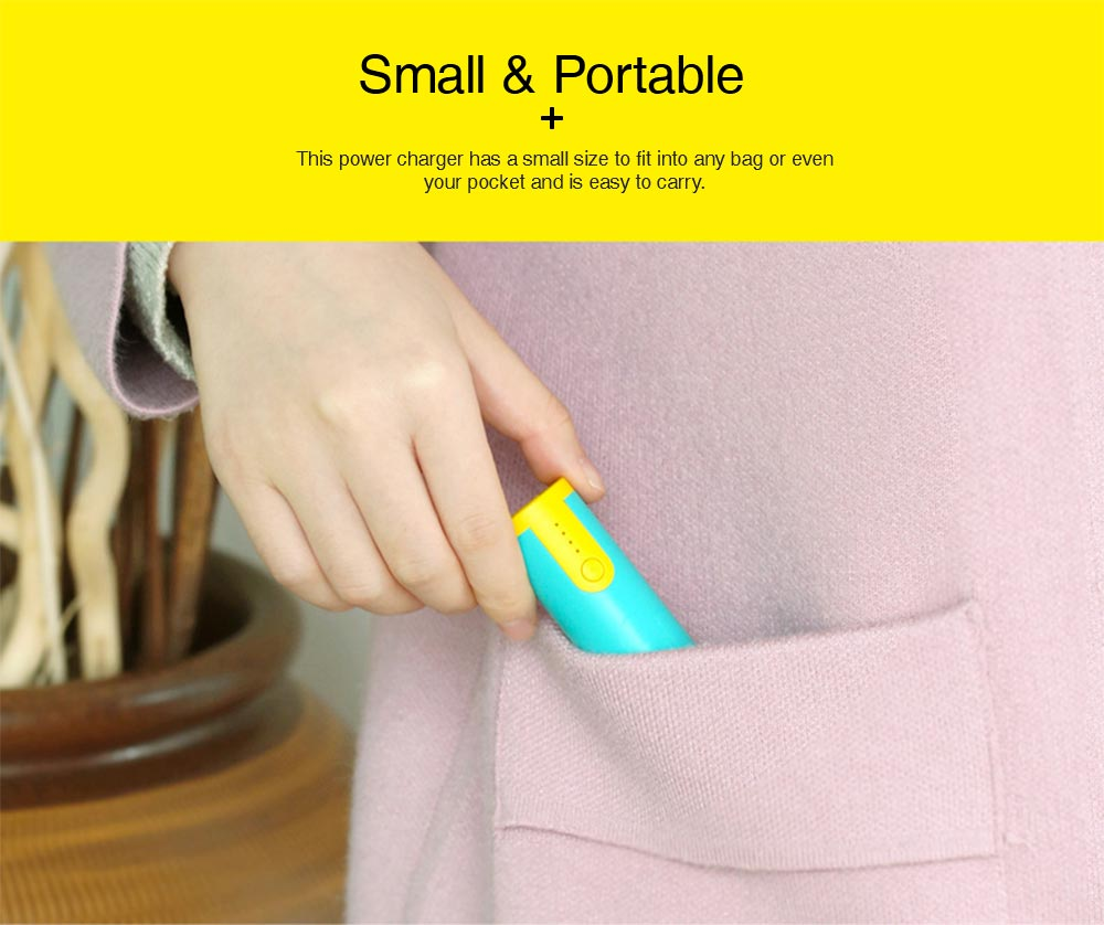Mini Portable Cylinder Power Bank, 2600mAh Battery Charger for Smart Phone, Battery Charger Case with Flashlight 1