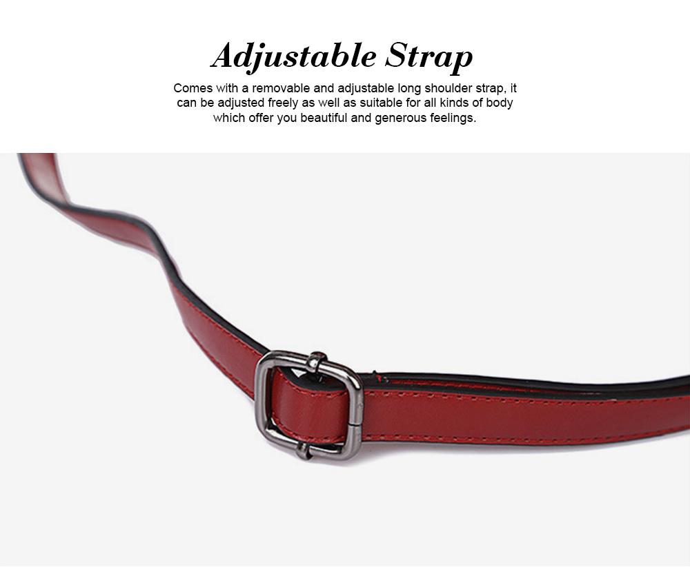 Oil Wax Leather Handbags With Adjustable Shoulder Strap, Fashion Ladies Portable Slung Shoulder Bag 6