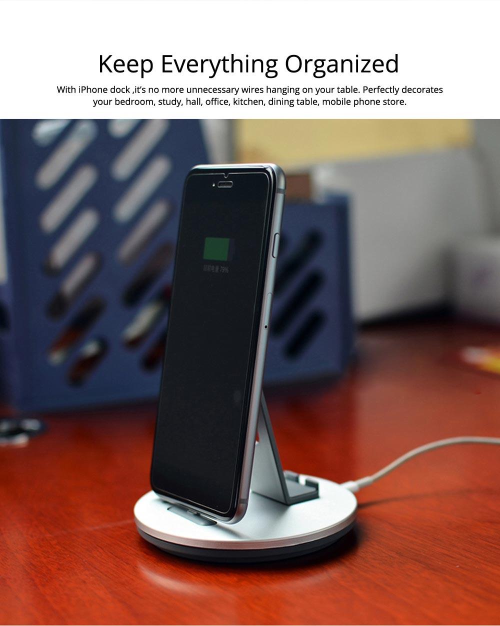 Aluminum Desktop Mobile Phone Charging Base Station Holder for Apple Android Smart Phone 7