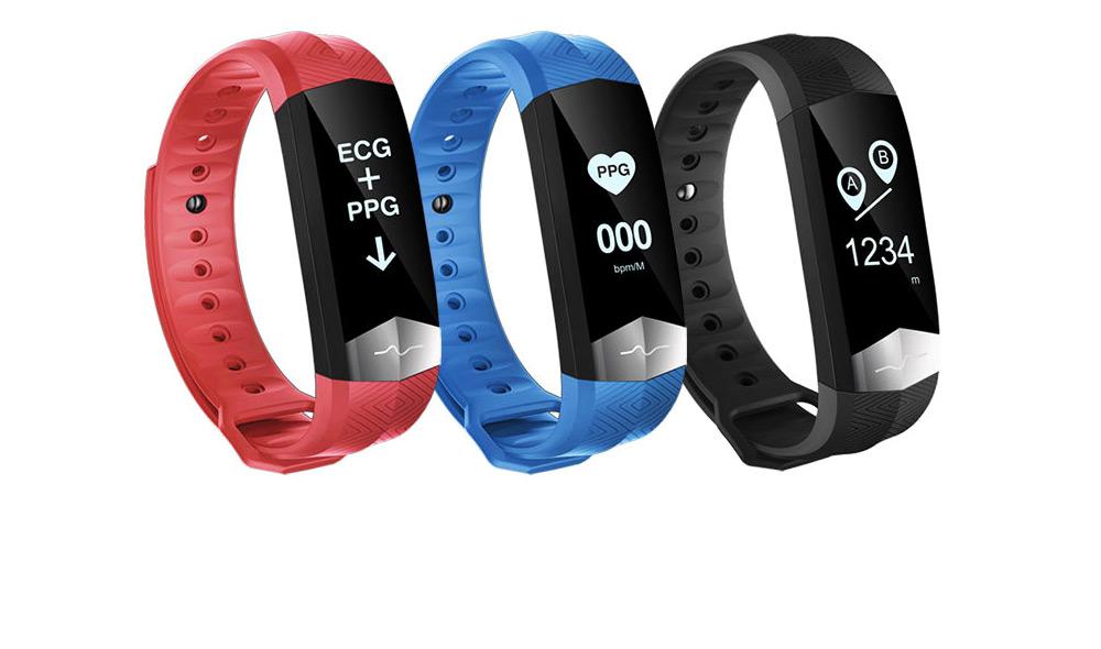 Blood Pressure and Heart Rate Bracelet, Electrocardiogram Smart Bracelet with Multiple Languages for PPG+ECG Electrode type 7