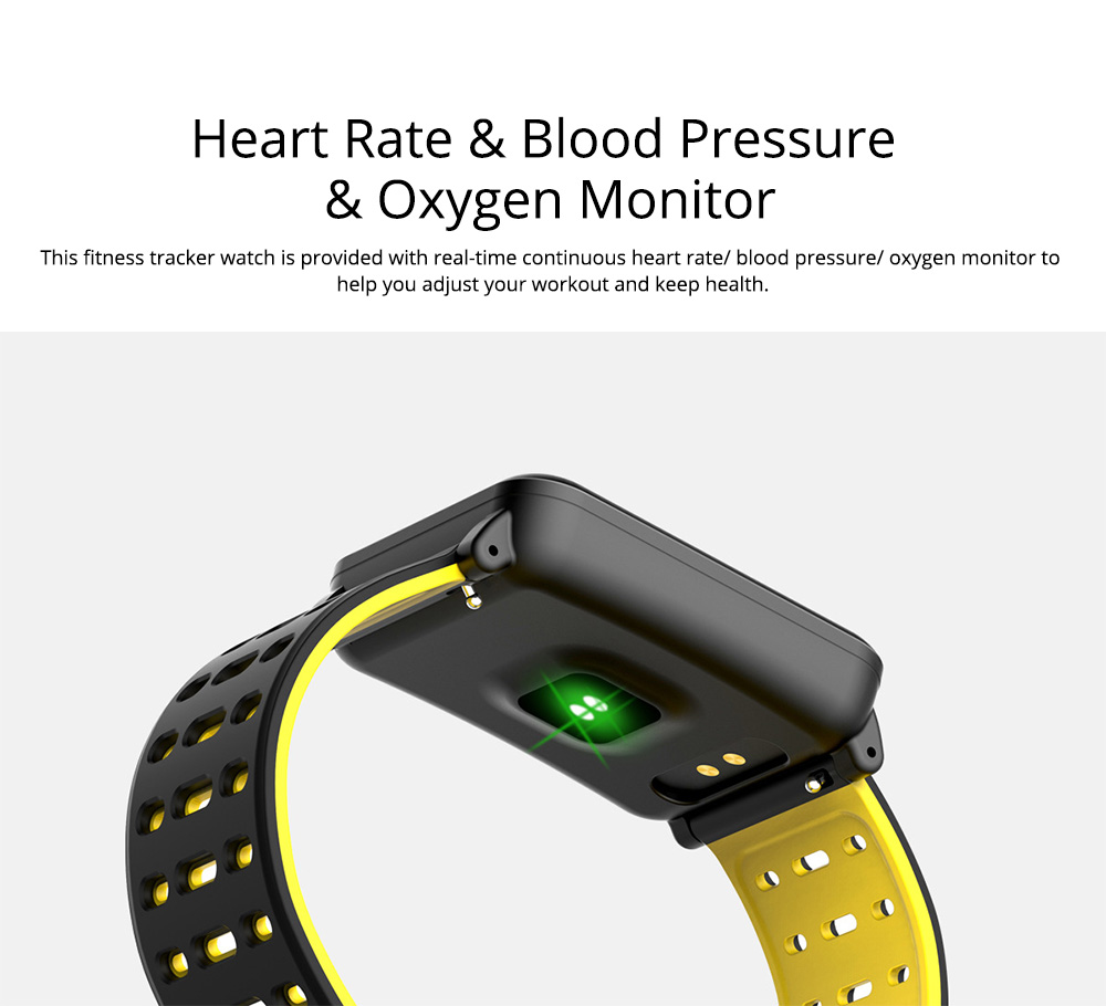 Smart Color Screen Watch for Heart Rate and Blood Pressure with IP68 Waterproof and Anti-loss Multi-movement Bracelet 6