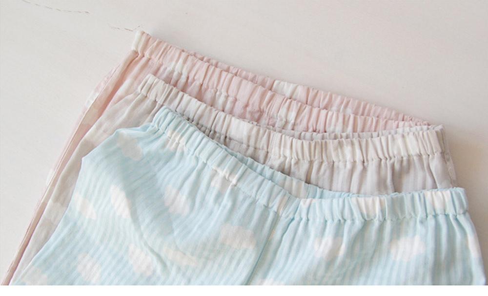 Sleepwear Fashionable Pajamas Set for Girl, Women Soft Long Sleeves Cotton Nightgown 4