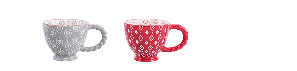 Ceramic Cup Breakfast Round Big Opening Mugs for Home Tea Milk Glazed white Porcelain Mug 9