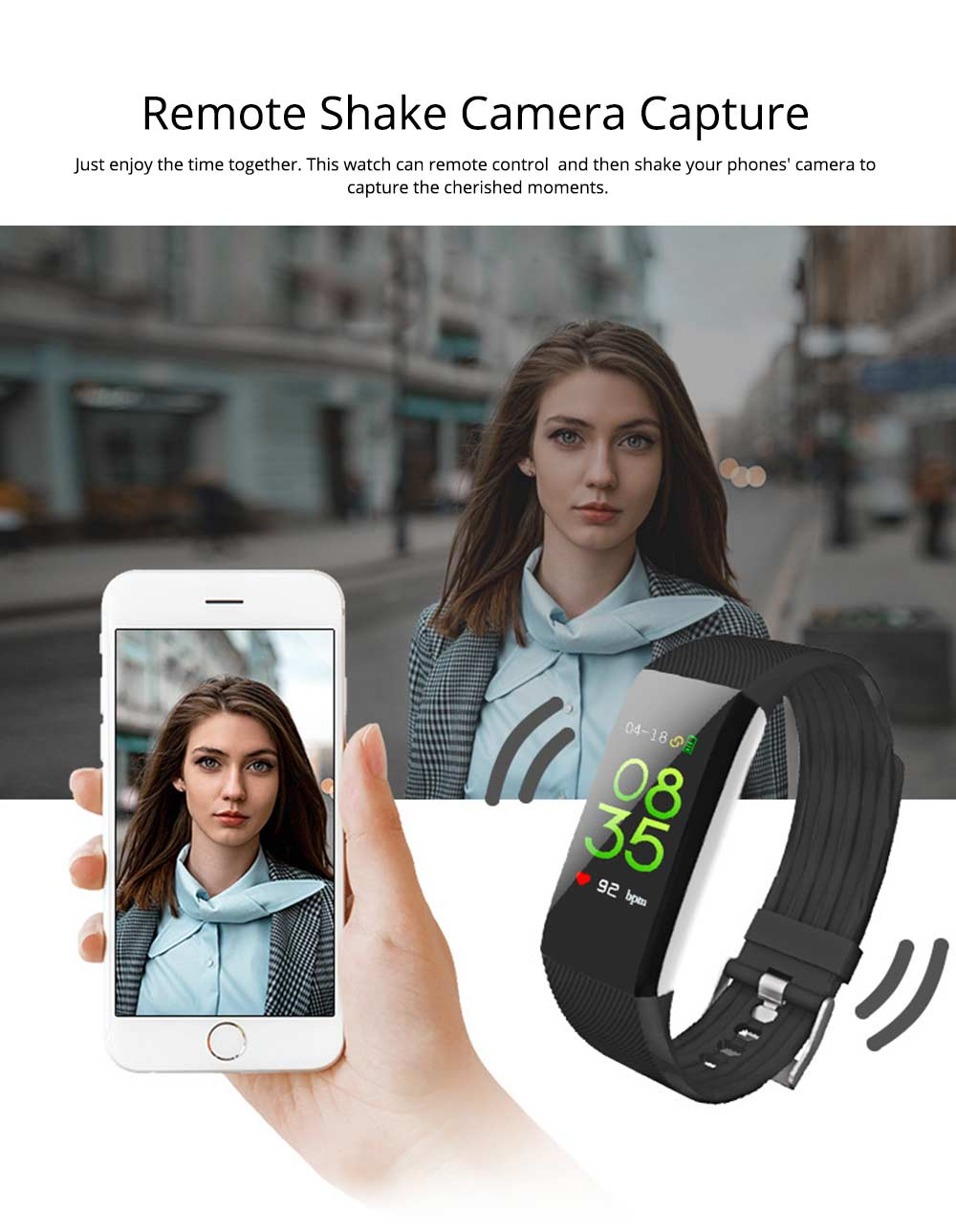 Waterproof Circle Color Screen Smart Bracelet with Multiple-sports Modes for Continuous Heart Rate Monitoring 6