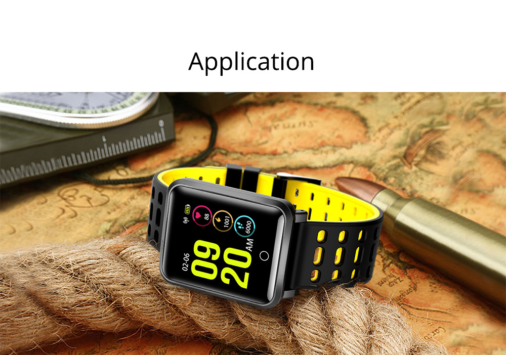 Smart Color Screen Watch for Heart Rate and Blood Pressure with IP68 Waterproof and Anti-loss Multi-movement Bracelet 8