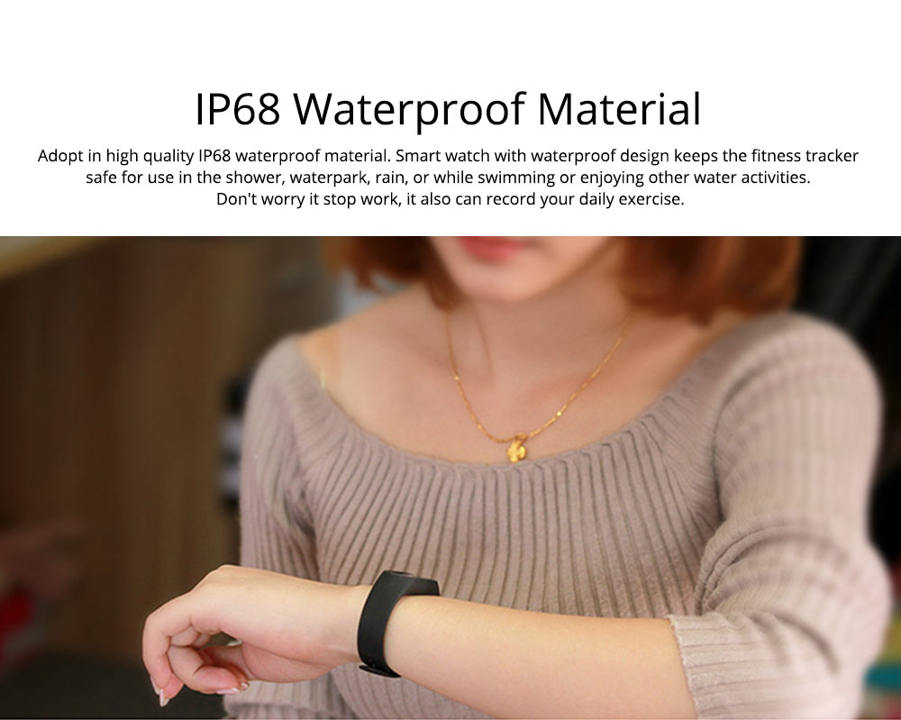 Waterproof Sports Bluetooth Smart Bracelet for Attendance Clock System, Call Reminder and Rate Monitoring 1