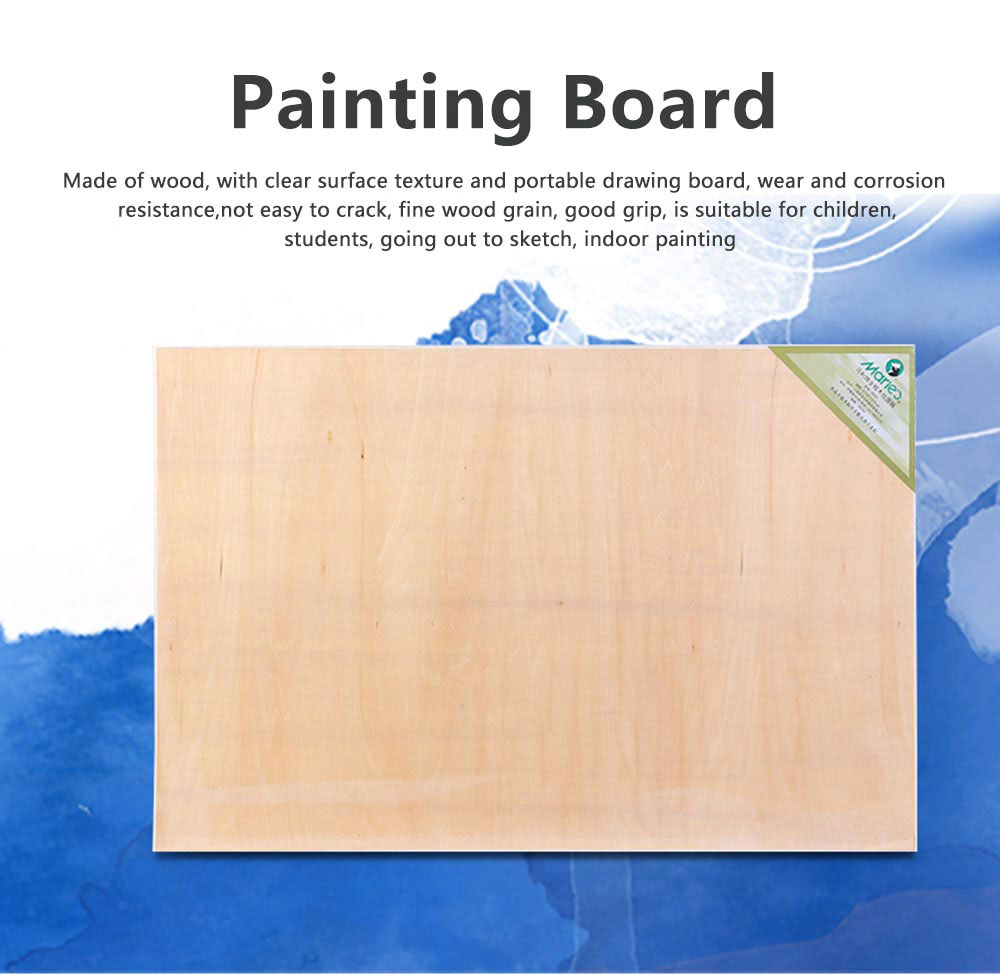 2K Eucalyptus Drawing Board, Painting Board Canvas, 23.6*35 inch Painting Board Stand 0