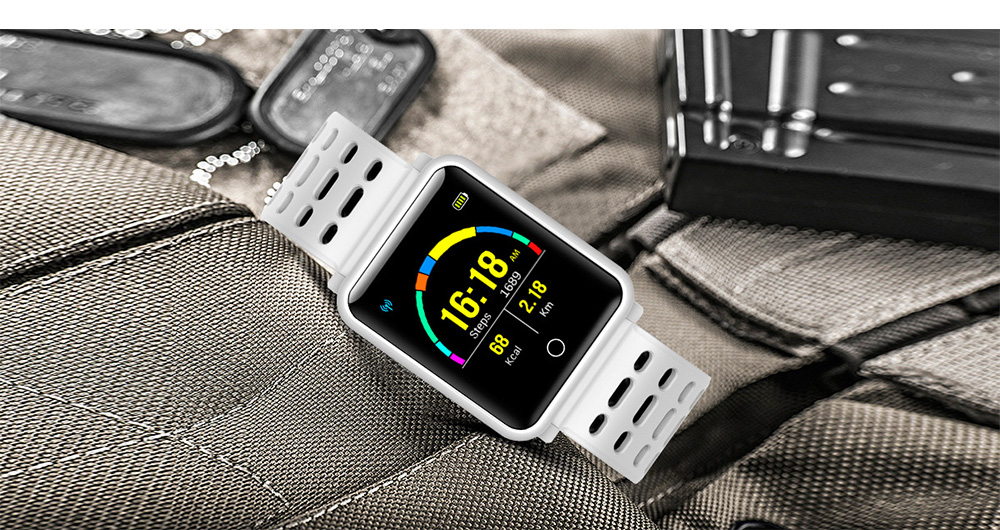 Smart Color Screen Watch for Heart Rate and Blood Pressure with IP68 Waterproof and Anti-loss Multi-movement Bracelet 11
