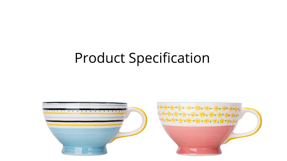 Ceramic Breakfast Mug, Large Capacity Porcelain cup for Water Juice Tea Food 17