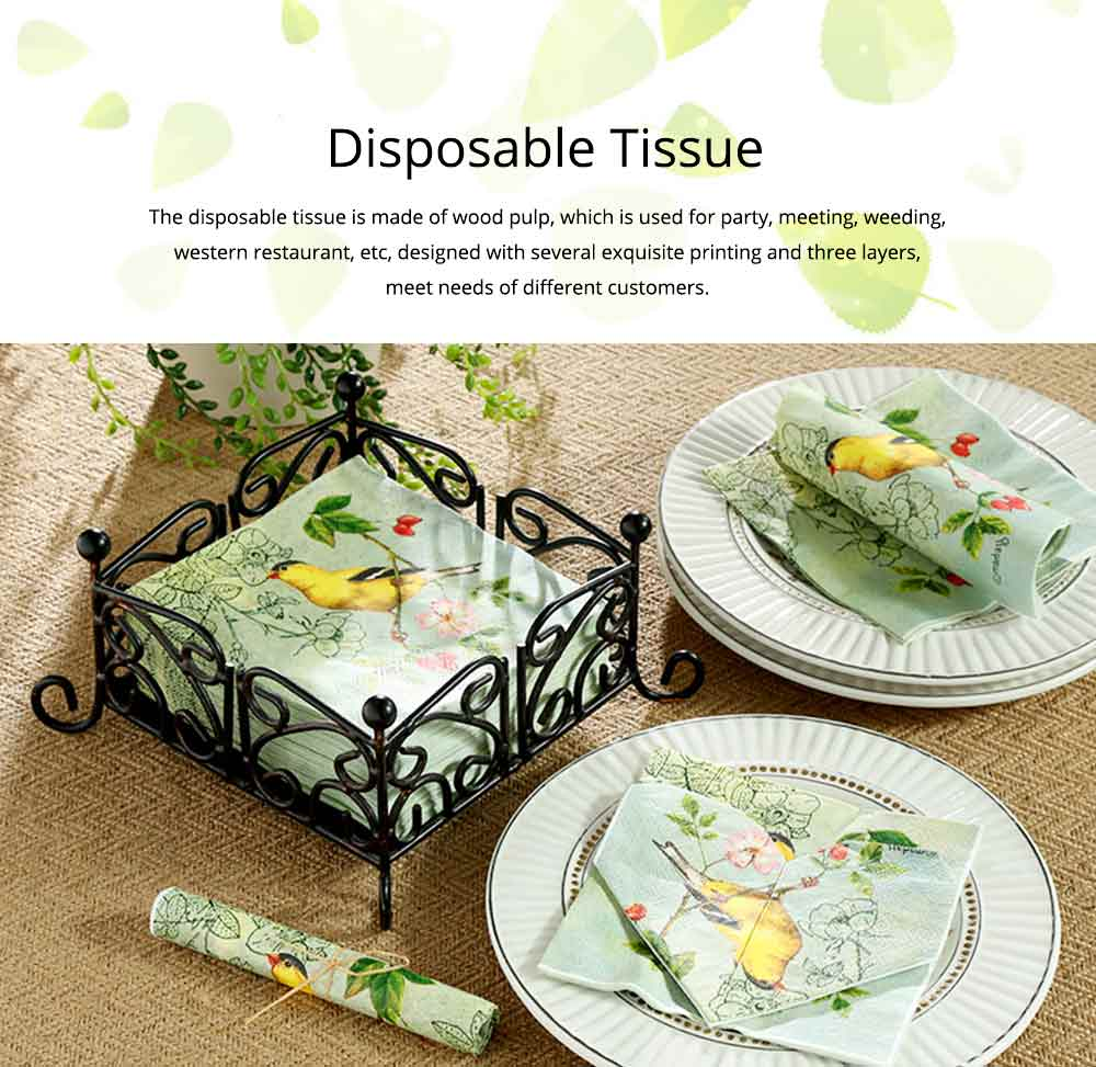 Tissue Environmental Printed Napkin for Wedding Dining Disposable Table Supplies Paper 0
