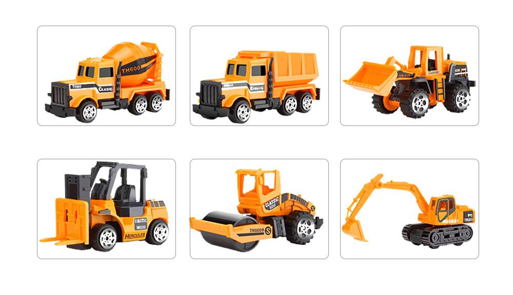 Children Toy Car Pull Back Car Set, Alloy Puzzle Car, Mobilization Q Version Mini Toy Car for Children 8