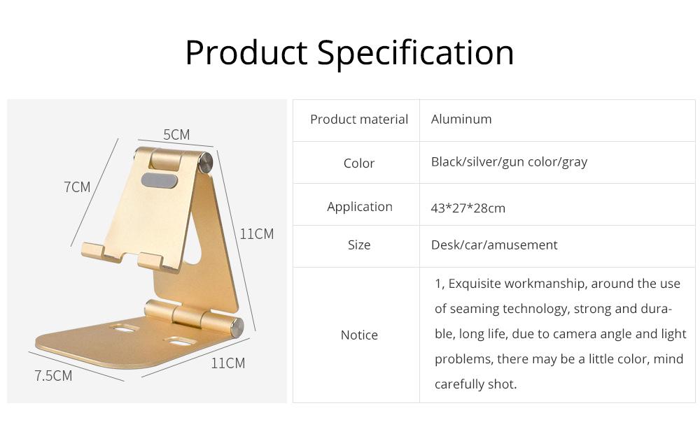 Aluminum Alloy Desktop Phone Holder, Portable Double Adjustable Folding Mobile Phone Tablet Bracket for Universal Compatibility 8
