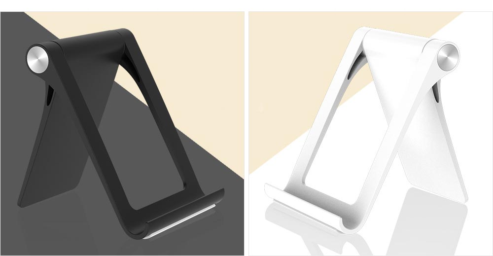 Creative Aluminum Mobile Phone Flat Desktop Stand, Universal Fold Live Broadcast Phone Stand 11