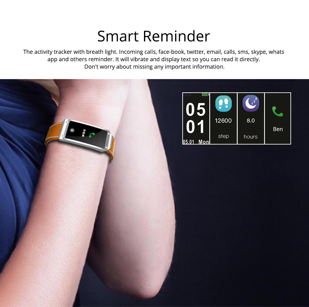 Smart Bracelet with GPS Positioning for Continuous Heart Rate Monitoring and Call Reminder 5