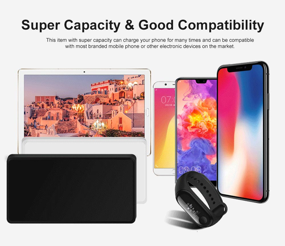 4000mAh Ultra-thin Portable Power Bank, Smart Charging Battery Charger Power Bank Case 4
