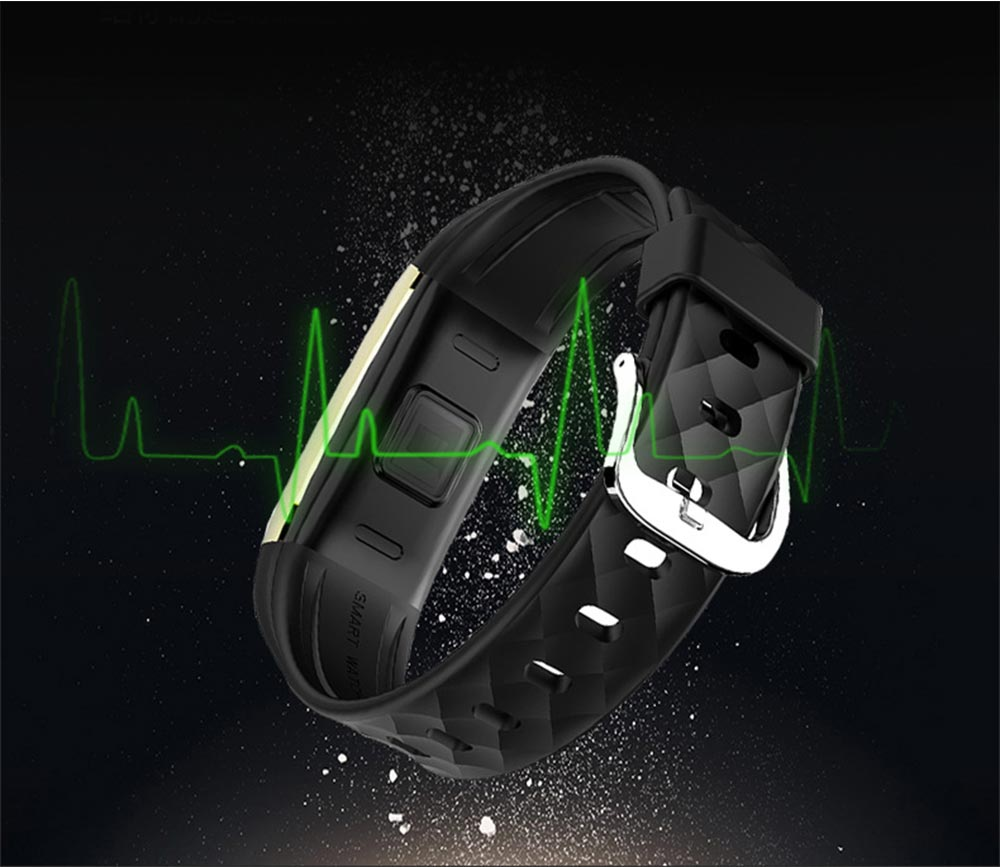 IP67 Waterproof Smart Bracelet with One-click Photo for Continuous Heart Rate Monitoring and Call Reminder 2