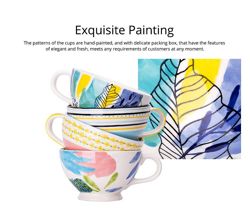 Ceramic Breakfast Mug, Large Capacity Porcelain cup for Water Juice Tea Food 15