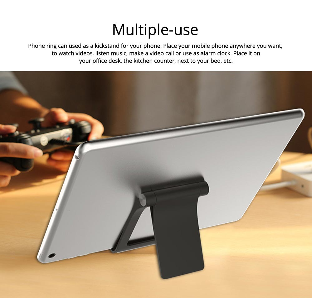 Creative Aluminum Mobile Phone Flat Desktop Stand, Universal Fold Live Broadcast Phone Stand 6