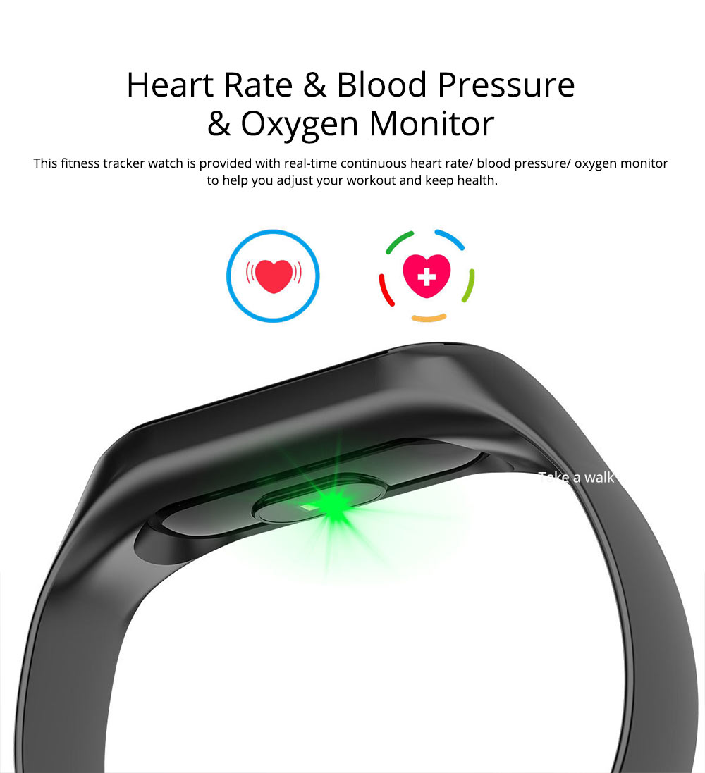 Waterproof Color Screen Smart Bracelet with Multiple-sports Modes for Heart Rate & Oxygen Monitoring 2
