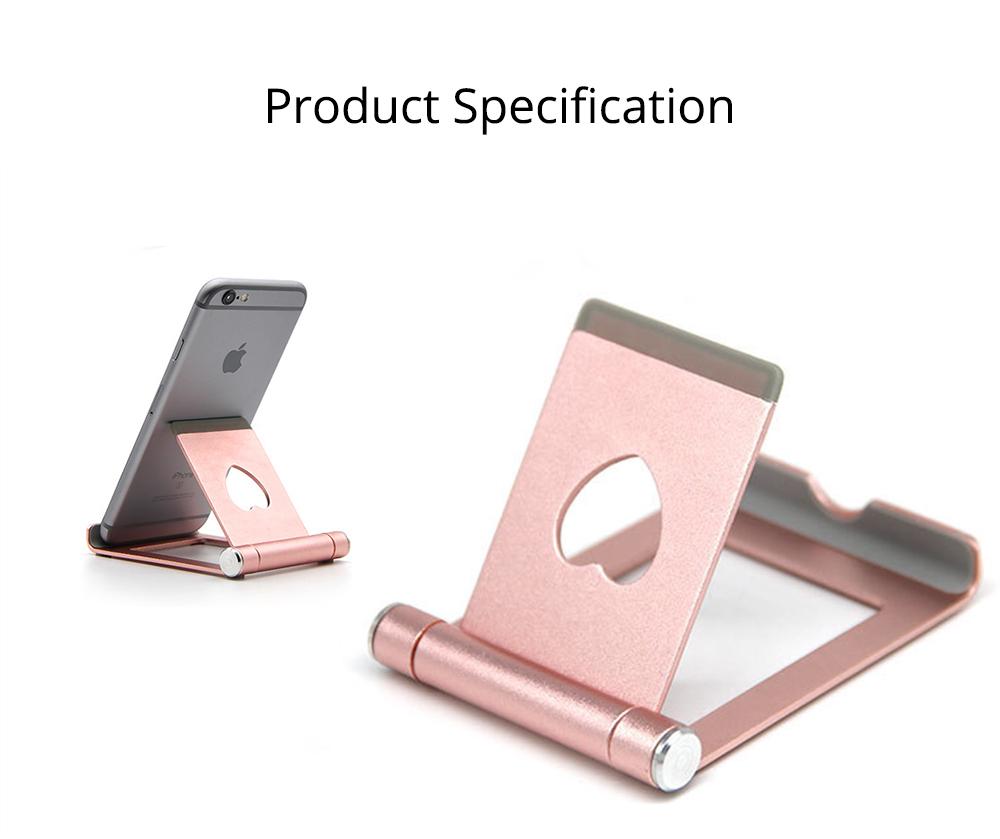 Aluminum Alloy Desktop Phone Holder, Universal Adjustable Foldable Mobile Phone Holder Stand for Live 8