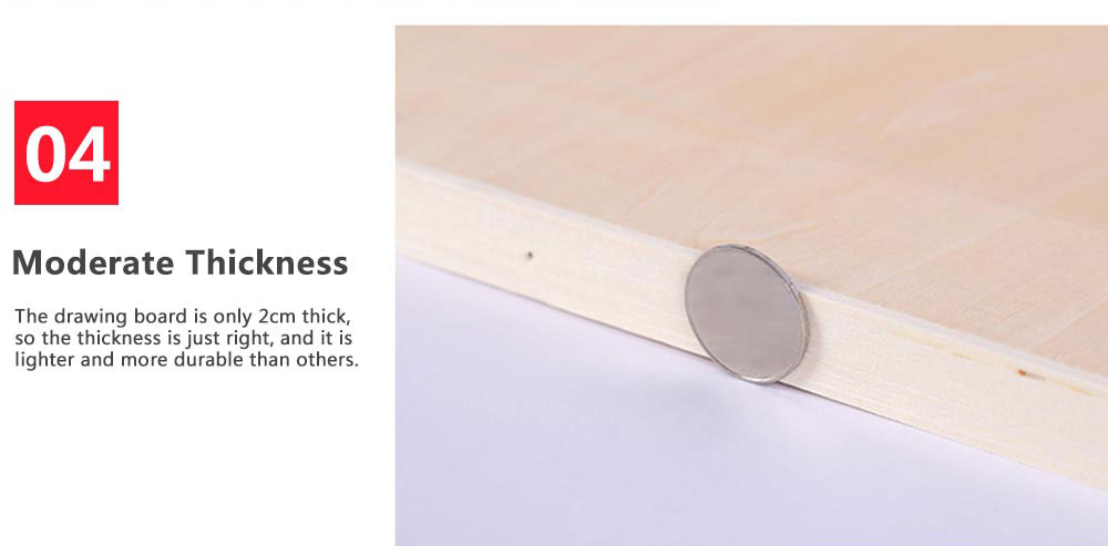 2K Eucalyptus Drawing Board, Painting Board Canvas, 23.6*35 inch Painting Board Stand 5
