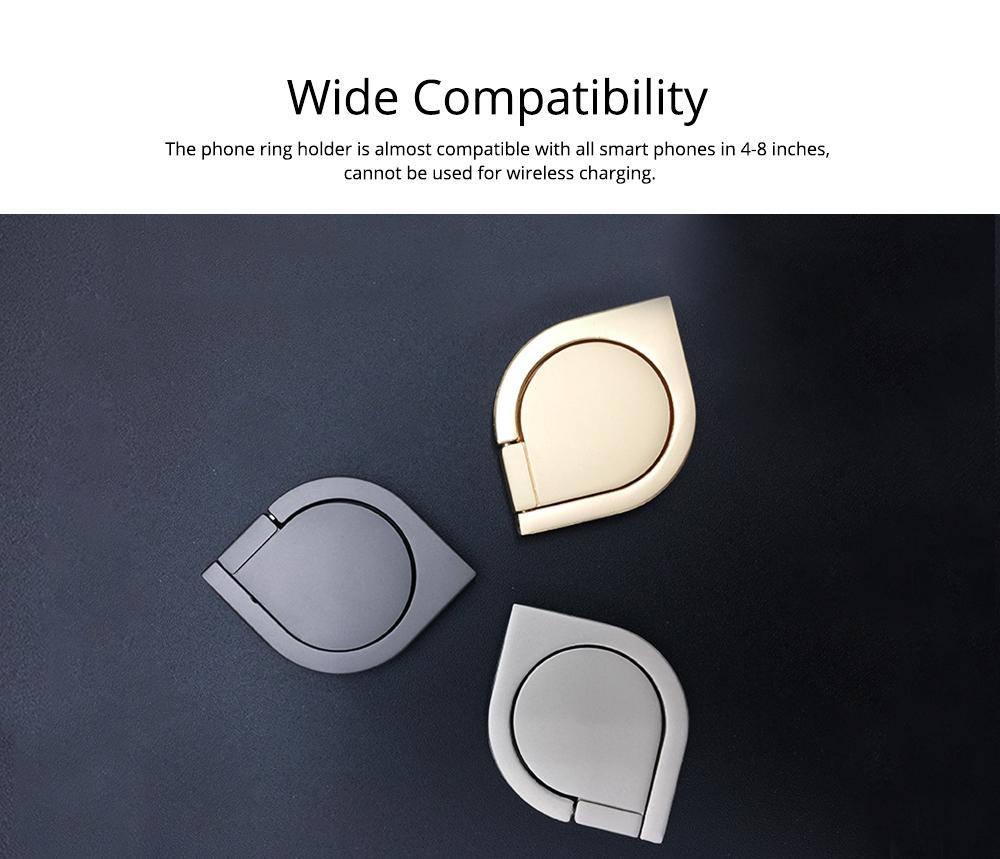 360 ° Rotating Water Droplets Ring Buckle Bracket, Car Metal Finger Buckle Phone Ring Holder 5