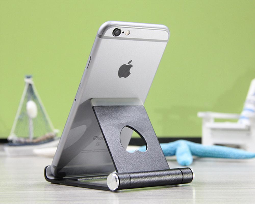 Aluminum Alloy Desktop Phone Holder, Universal Adjustable Foldable Mobile Phone Holder Stand for Live 7