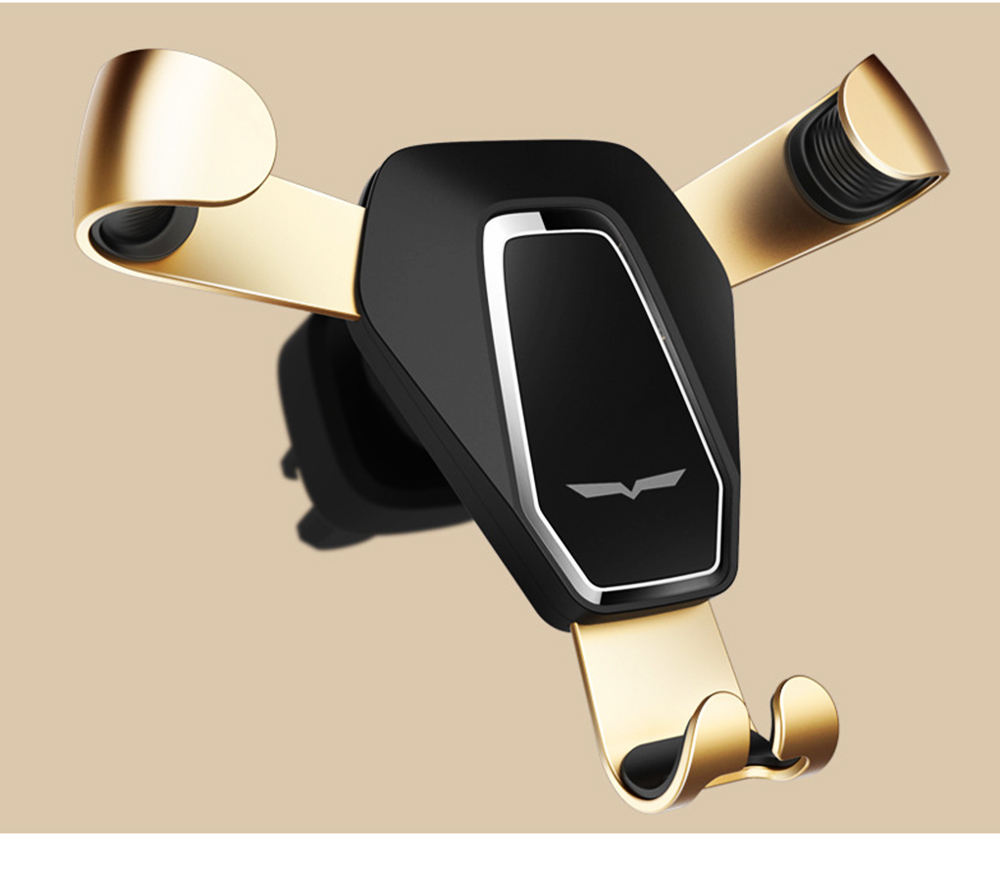 Car Phone Holder Air Outlet Gravity Bracket, Creative Car Navigation Bracket For Cell Phone 12