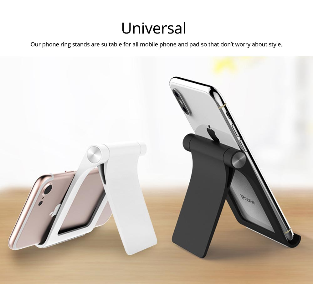 Creative Aluminum Mobile Phone Flat Desktop Stand, Universal Fold Live Broadcast Phone Stand 3