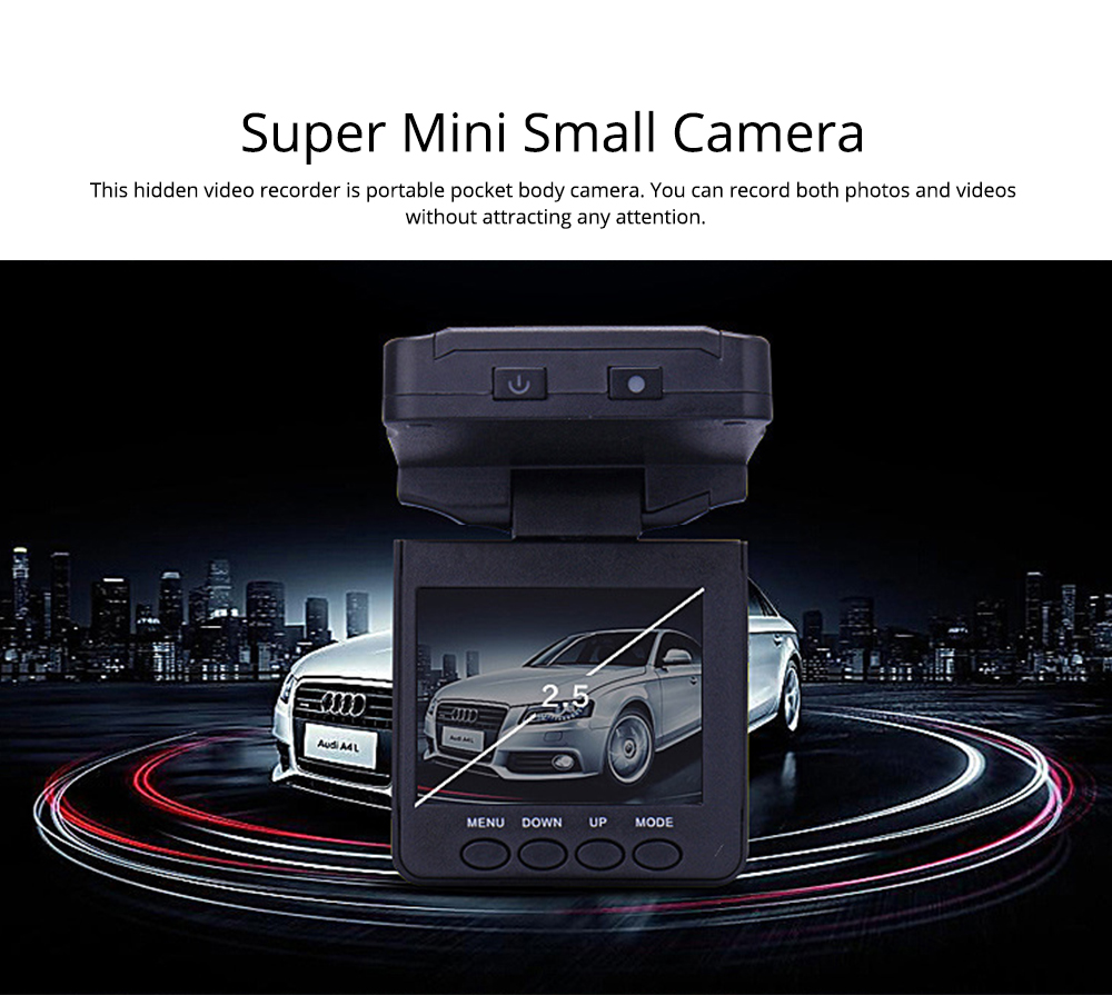 Aircraft Head Driving Recorder, Wide-angle Infrared Night Vision HD No Leakage Seconds as Mini Car Recorder 6