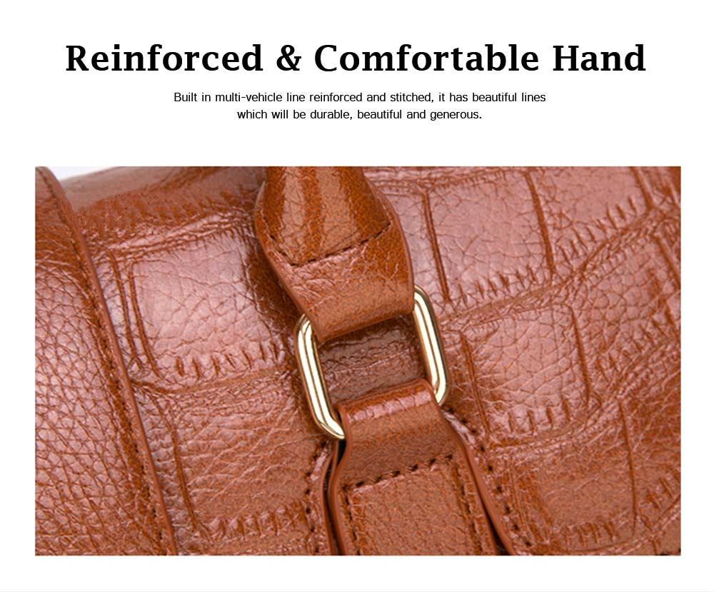 Crocodile Handbag with Magnetic Suction Buckle and Hardware Buckle, Fashion Simple Tote for Women 3