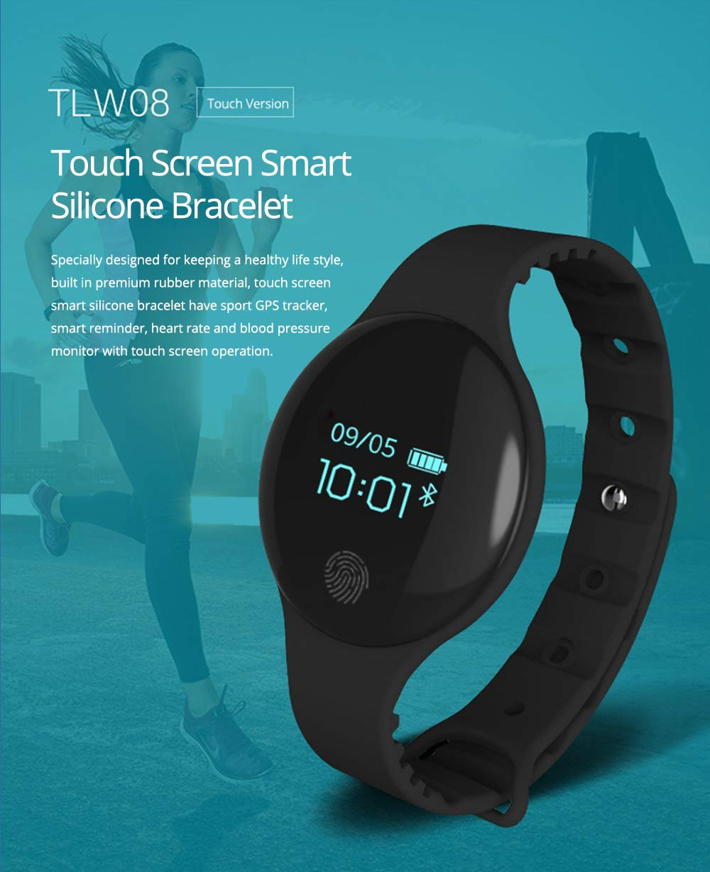 Sports Smart Watch Smart Silicone Bracelet with Touch Screen Bluetooth Pedometer for Children's Gift 0