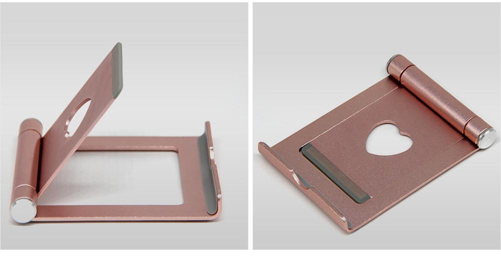 Aluminum Alloy Desktop Phone Holder, Universal Adjustable Foldable Mobile Phone Holder Stand for Live 4