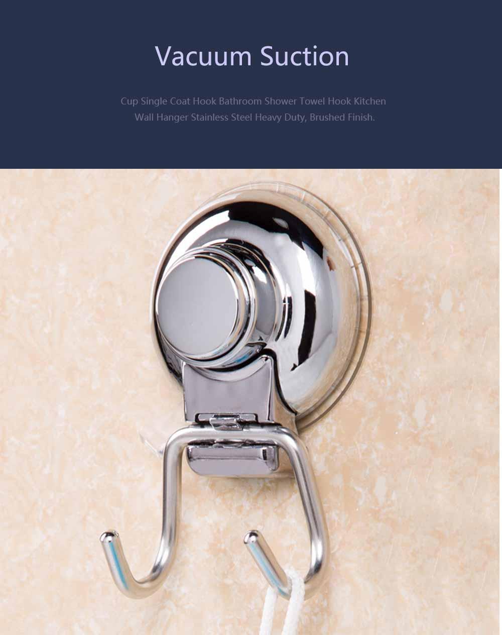 Bathroom Shower Towel Hook, Kitchen Wall Hanger, Stainless Steel Heavy Duty Hook 0